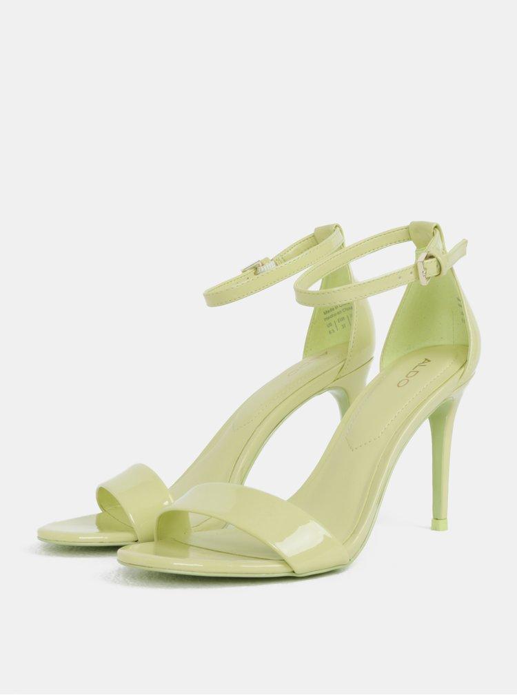 Světle zelené sandálky ALDO Cally