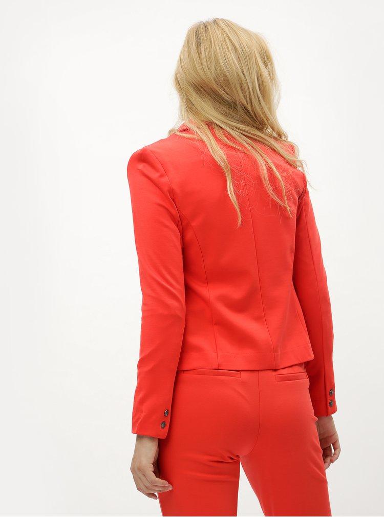 Červené kostýmové sako ONLY Poptrash