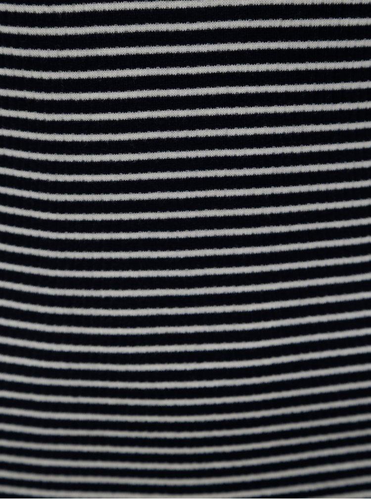Tmavě modré pruhované šaty bez rukávů Jacqueline de Yong Christine