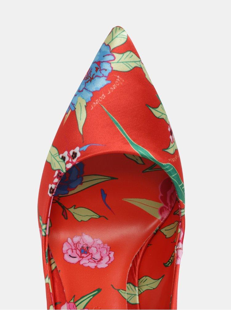 Červené květované lodičky ALDO Stessyf