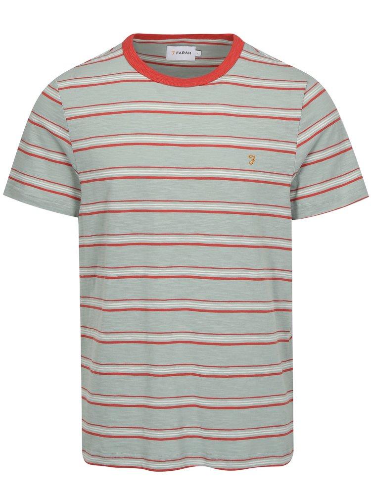 Zelené pruhované tričko Farah Regis
