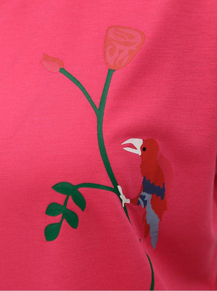 Růžové oversize tričko s potiskem Jacqueline de Yong Nixon