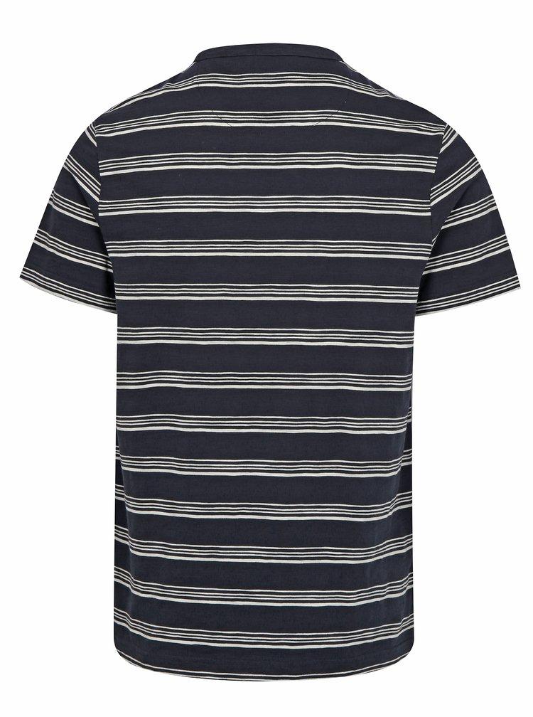 Tmavě modré pruhované tričko Farah Regis