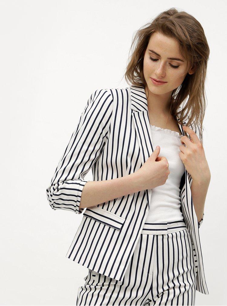 Modro-bílé kostýmové pruhované sako Miss Selfridge