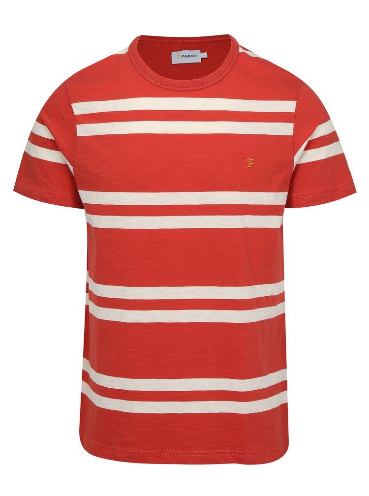 Červené pruhované tričko Farah Hewitt
