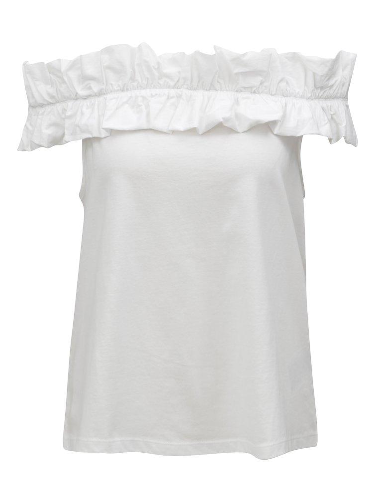 Bílá halenka s odhalenými rameny ONLY Pippe