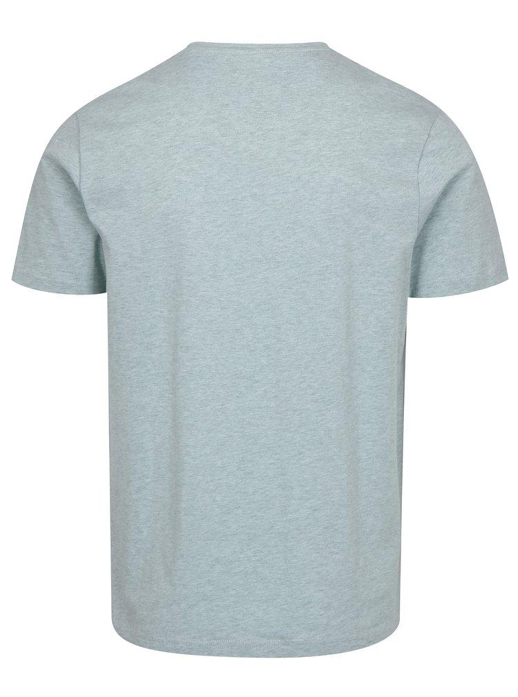 Mentolové žíhané tričko Farah Denny