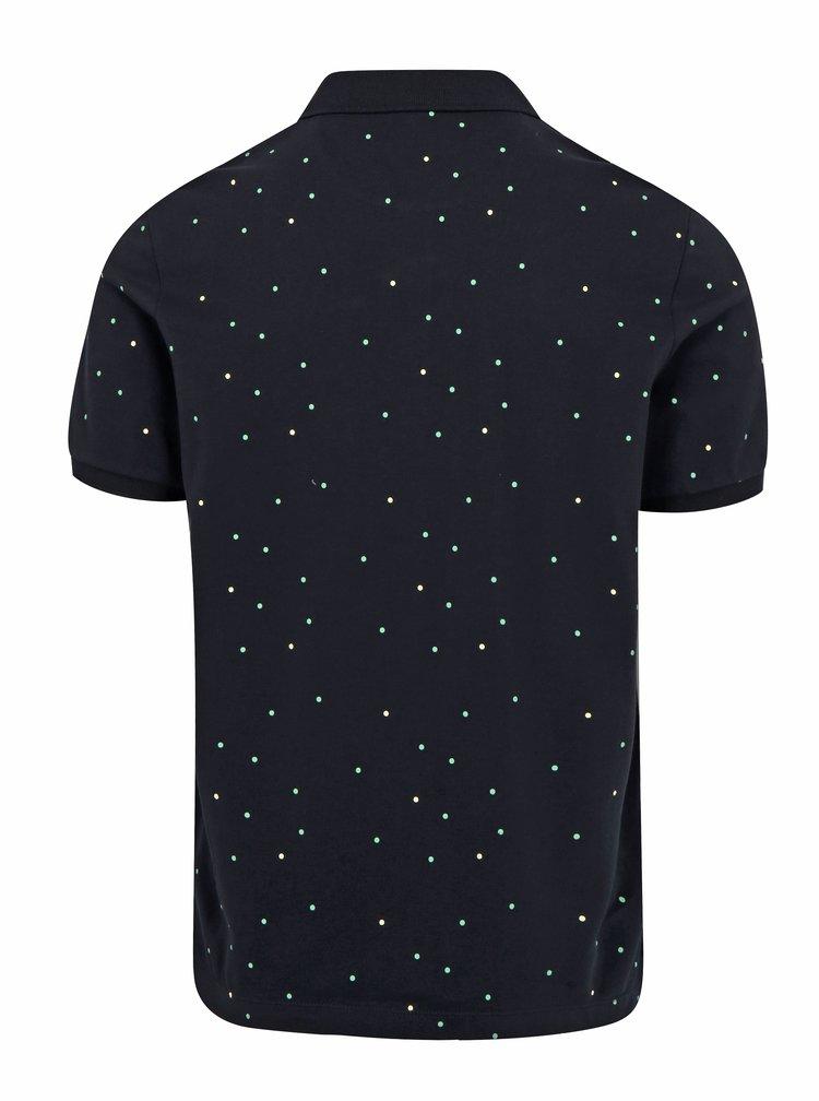 Tmavě modré pánské polo tričko s potiskem Farah Redcoat