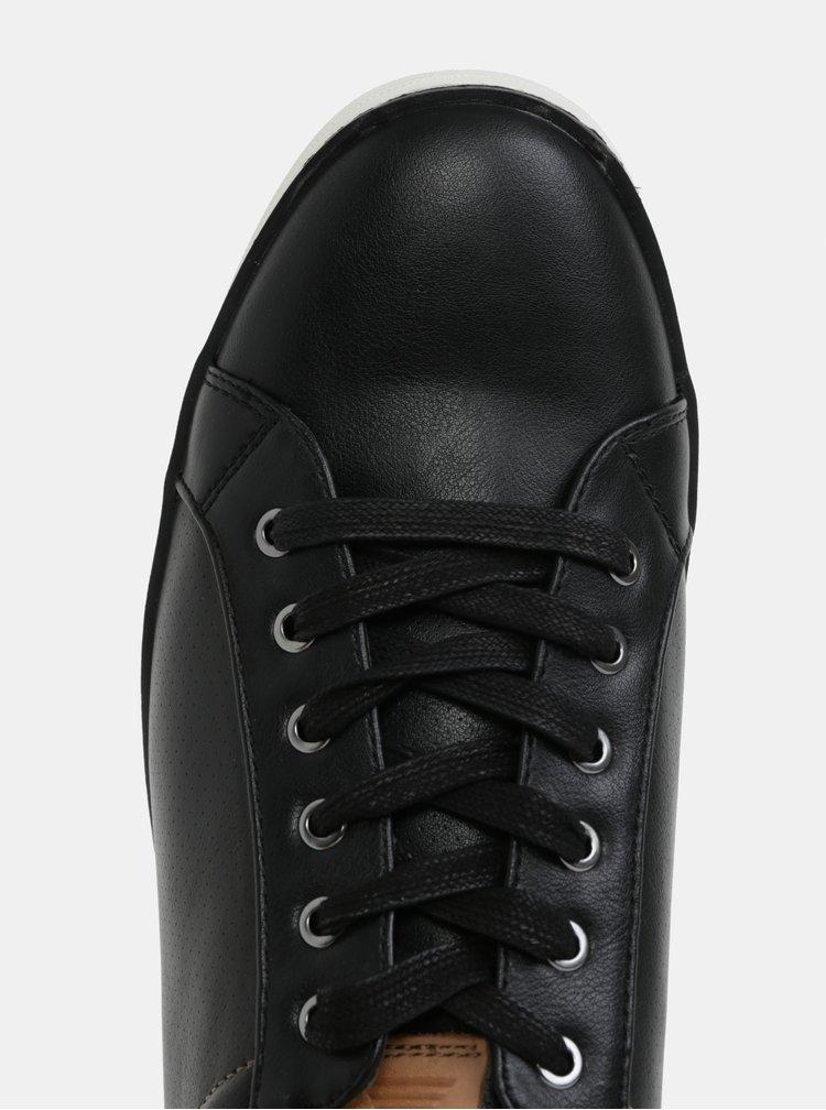 Černé pánské kožené tenisky ALDO Giling