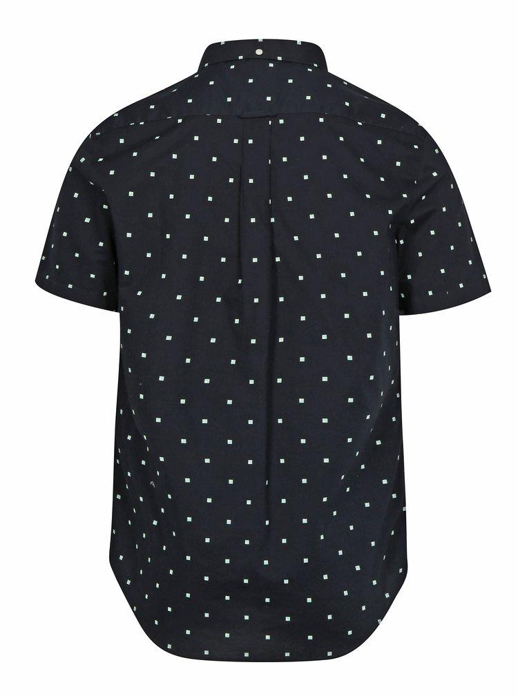Tmavě modrá vzorovaná slim fit košile Farah Ray