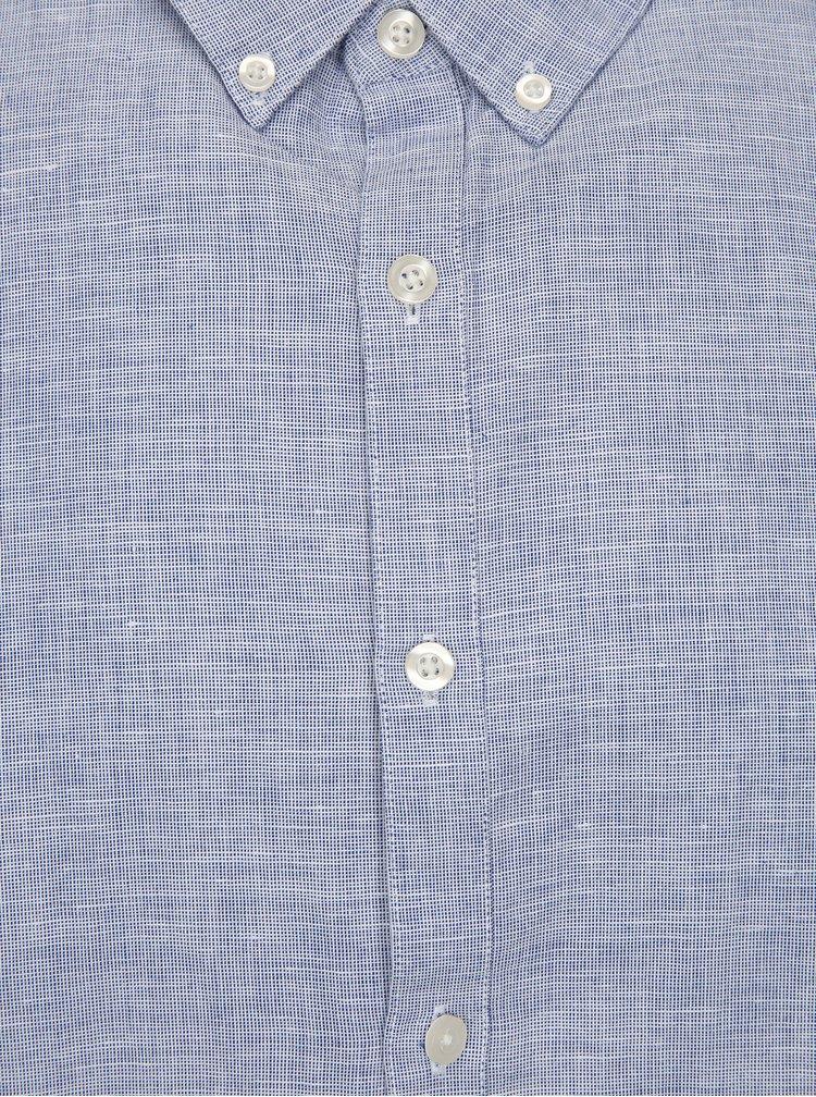 Camasa albastra slim fit cu amestec de in Farah Bresson