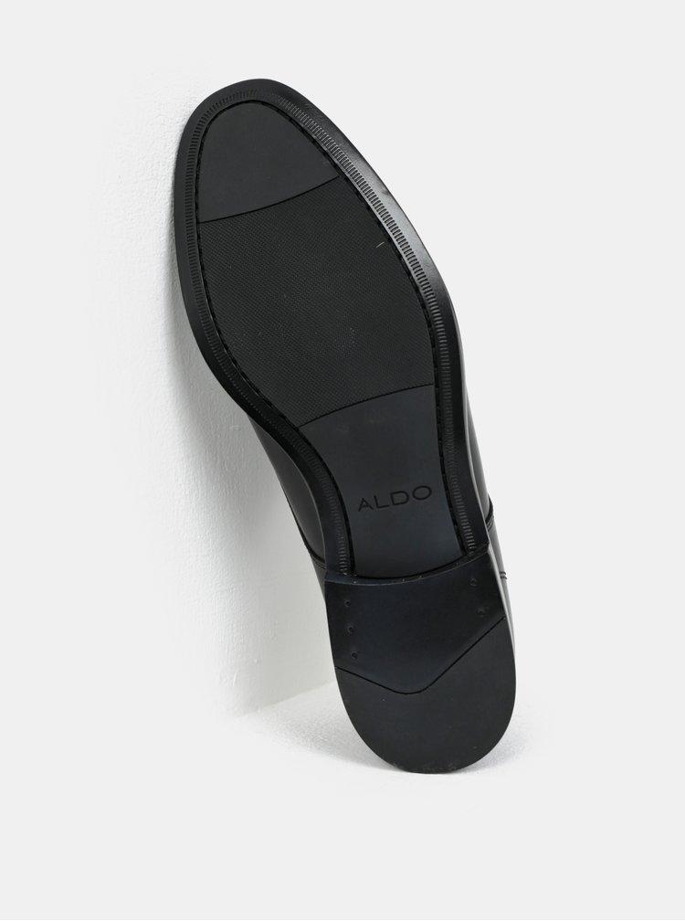 Černé pánské kožené polobotky ALDO Ricmann