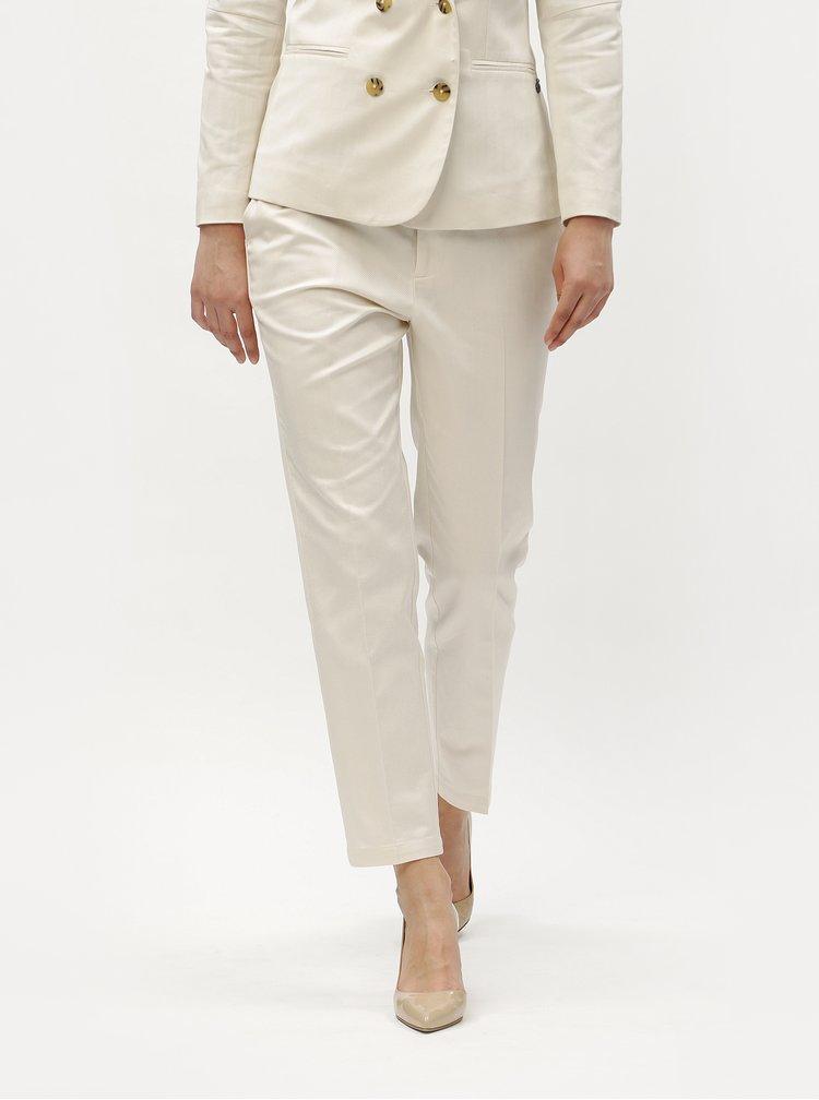 Béžové kostýmové kalhoty s vysokým pasem Scotch & Soda