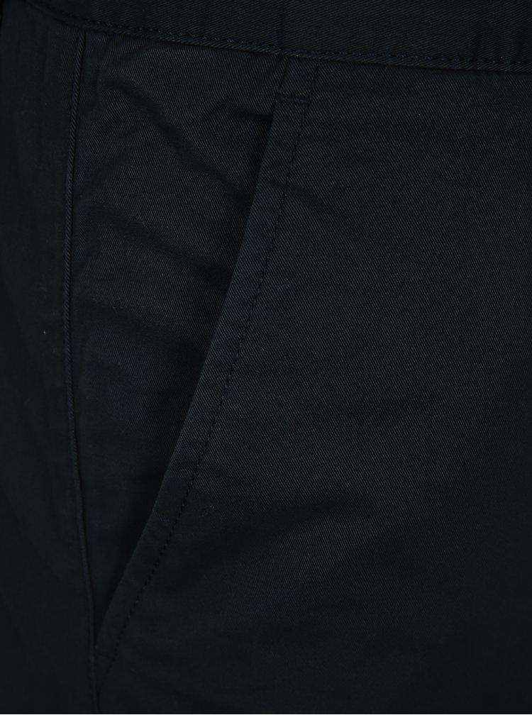 Pantaloni barbatesti scurti albastru inchis chino cu amestec de in Farah Hawk