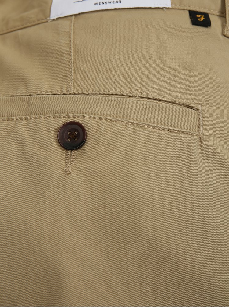 Pantaloni barbatesti scurti bej chino Farah Hawk