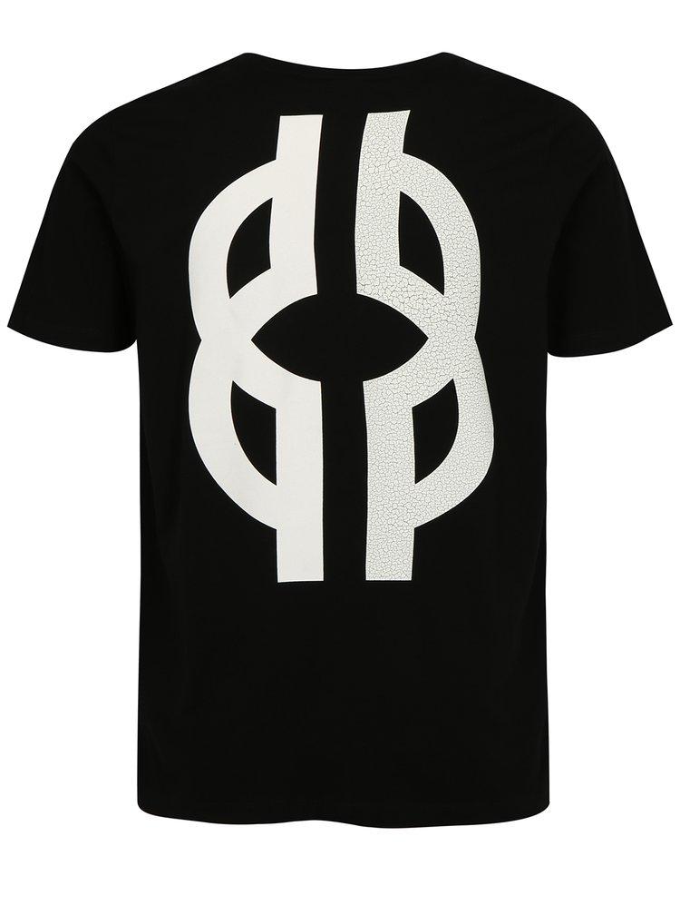 Černé pánské tričko s potiskem Jack & Jones Glandale
