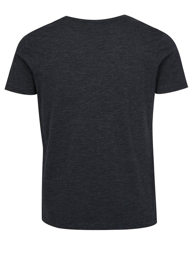 Tmavě modré tričko s potiskem Jack & Jones Joe