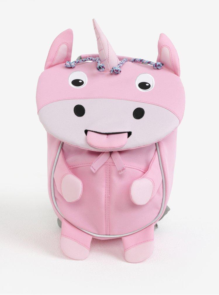 Růžový batoh ve tvaru jednorožce Affenzahn 4 l