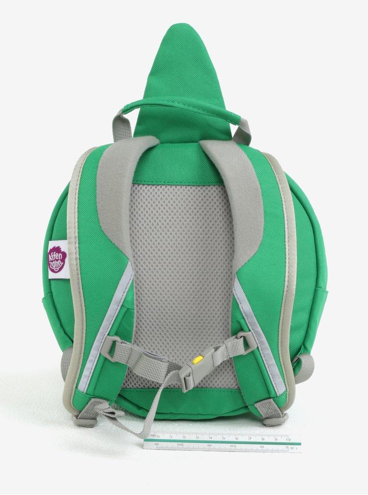 Zelený batoh ve tvaru krokodýla Affenzahn 4 l