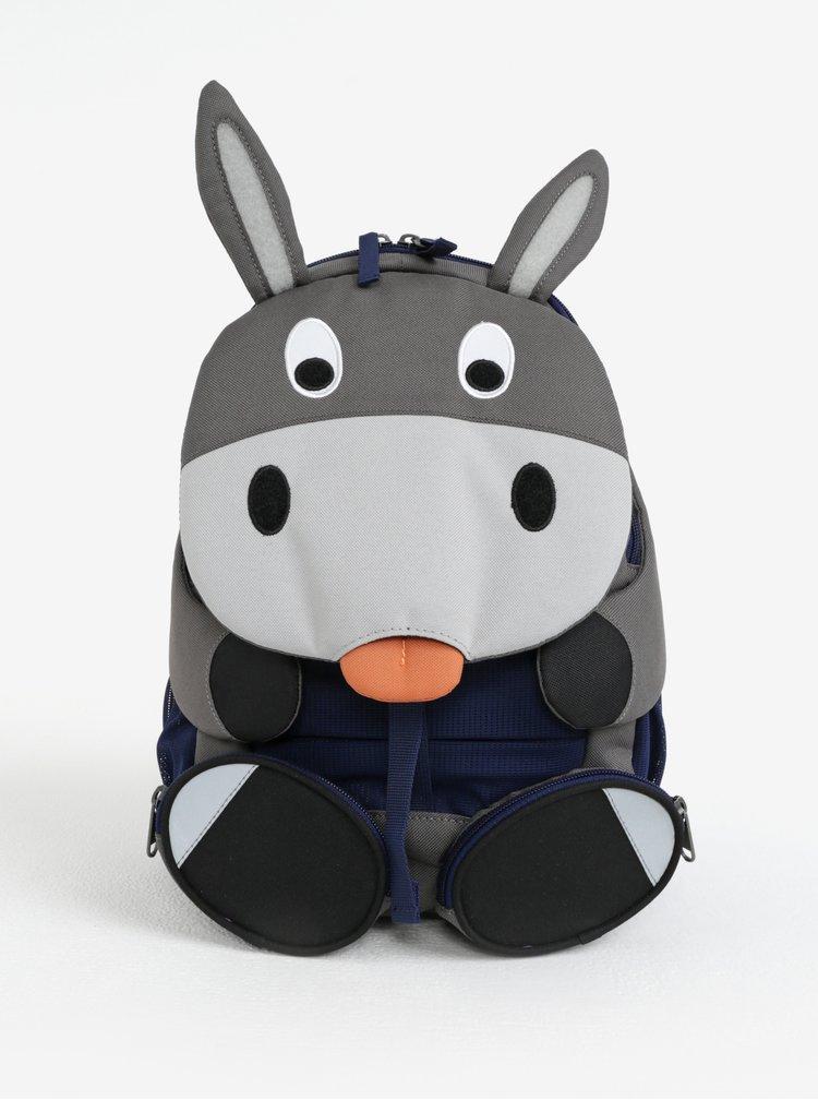 Šedý batoh ve tvaru oslíka Affenzahn 8 l