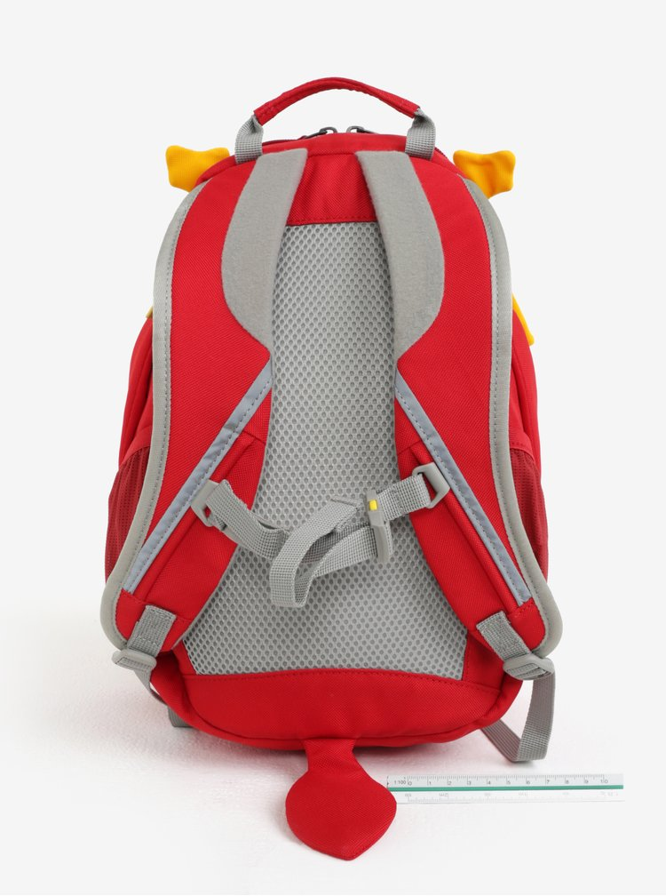 Červený batoh ve tvaru draka Affenzahn 8 l