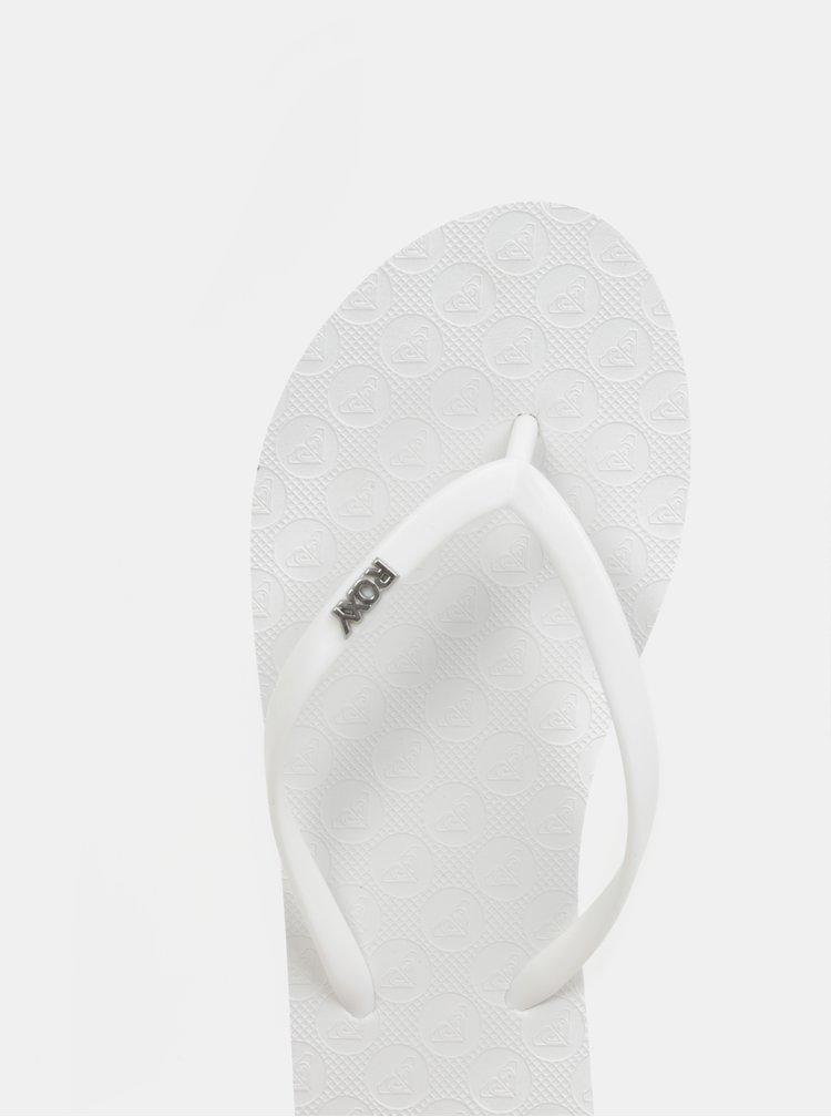 Bílé dámské žabky Roxy Viva