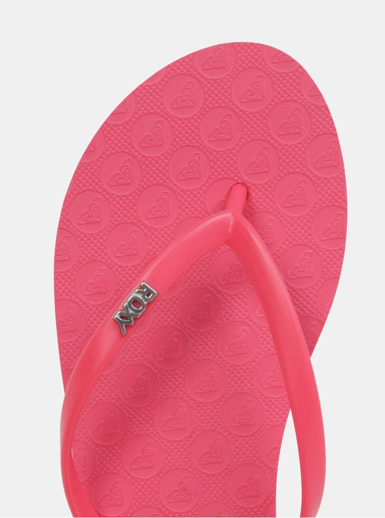 Růžové dámské žabky Roxy Viva