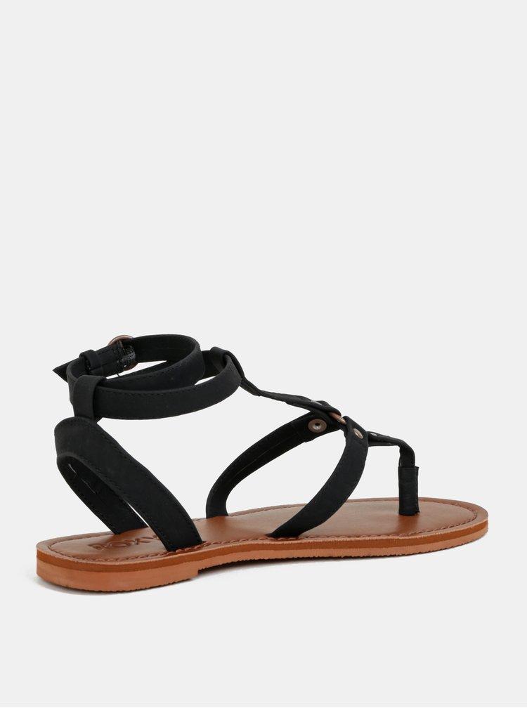 Černé sandály Roxy Soria
