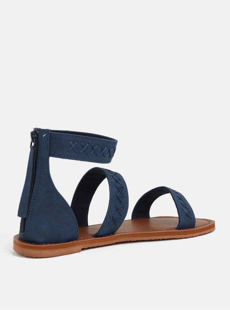 Tmavě modré dámské sandály s prošívaným vzorem Roxy Natalie