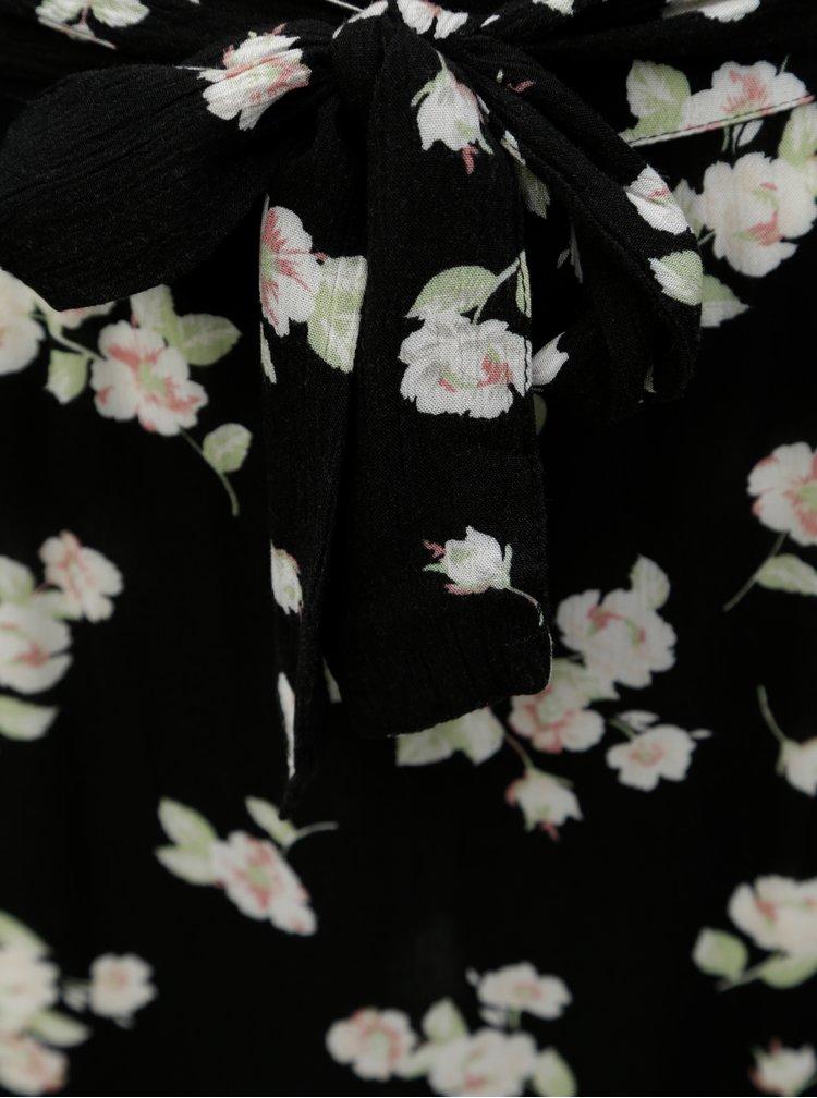 Černá květovaná maxisukně Dorothy Perkins Tall