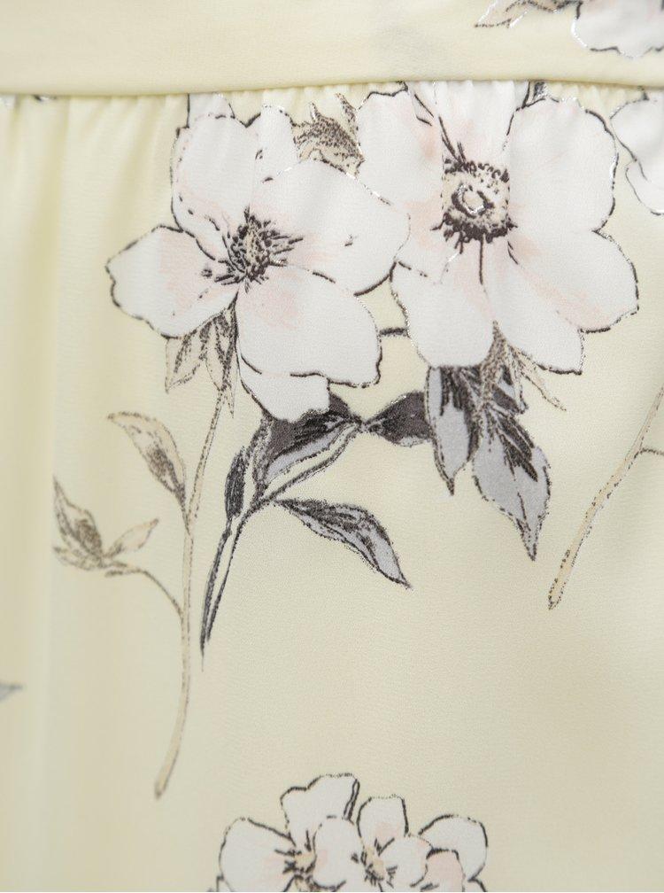 Žlutá květovaná maxi sukně Dorothy Perkins Petite