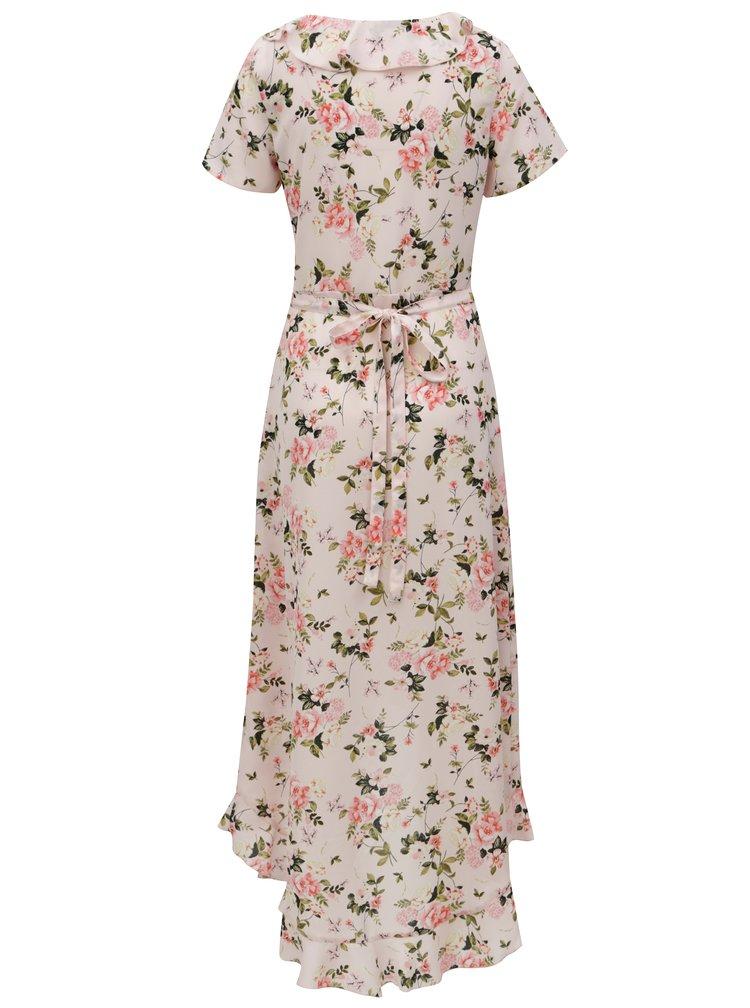 Světle růžové květované maxišaty Dorothy Perkins