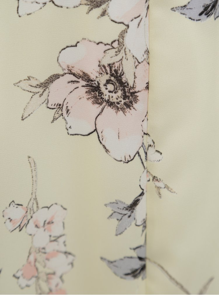 Světle žluté květované maxišaty Dorothy Perkins Petite