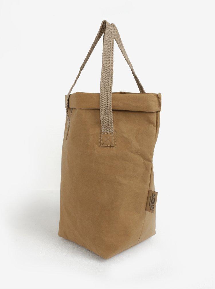 Světle hnědá velká taška do ruky UASHMAMA® Carry two