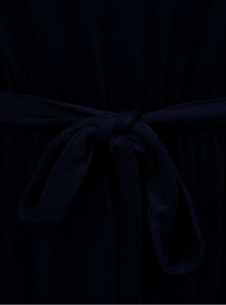 Tmavě modré maxišaty s gumou v pase Dorothy Perkins Petite