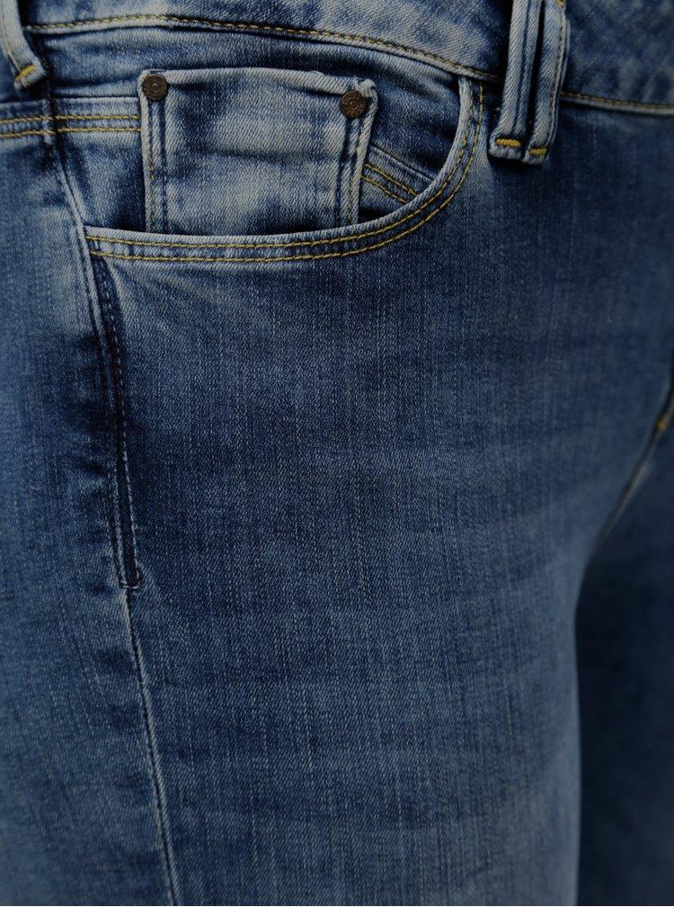 Modré dámské zkrácené super skinny džíny Cross Jeans
