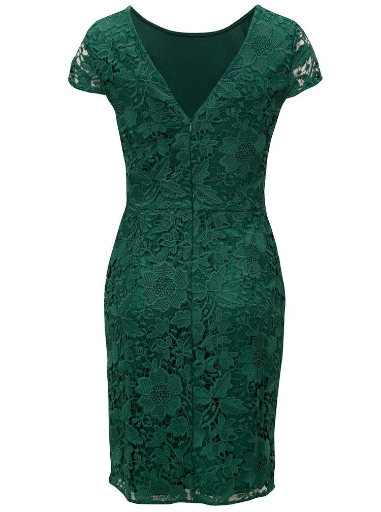 Zelené krajkové pouzdrové šaty Dorothy Perkins