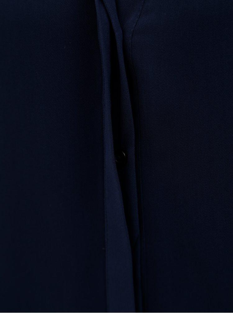 Tmavomodrá blúzka s mašľou na rukávoch Dorothy Perkins