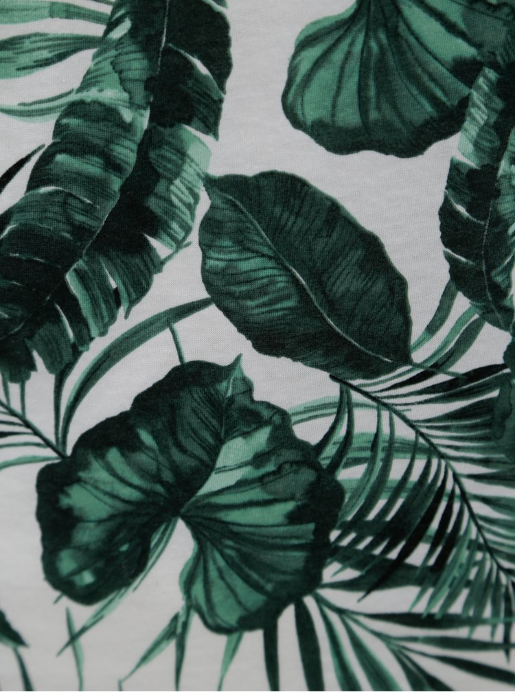 Bílo-zelené tílko s motivem listů Dorothy Perkins