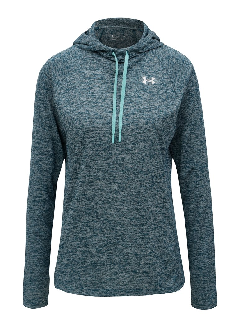 Hanorac de dama functional turcoaz melanj cu gluga Under Armour Hoody