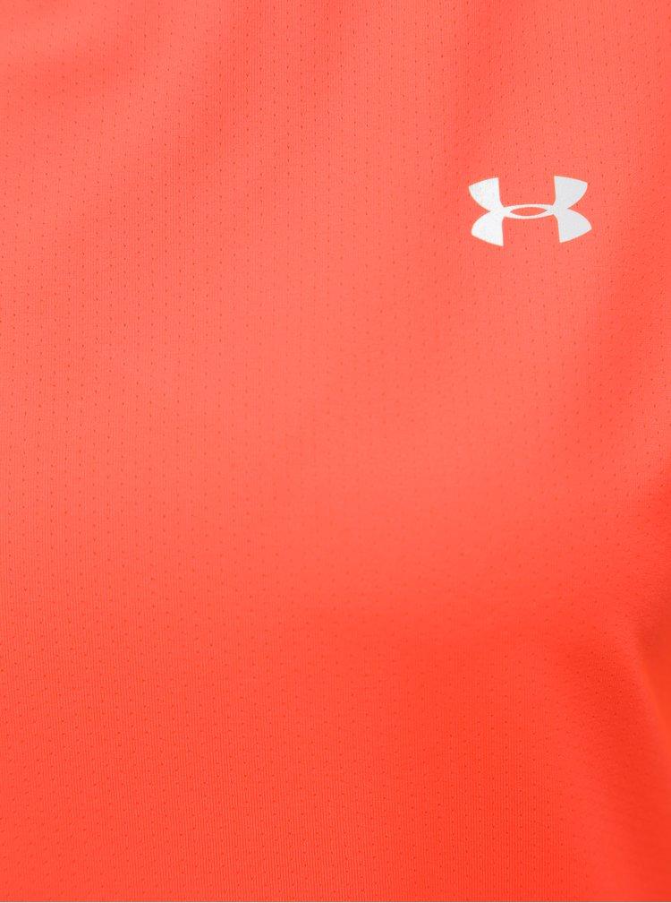 Neonově oranžové dámské funkční tričko Under Armour HG Armour SS