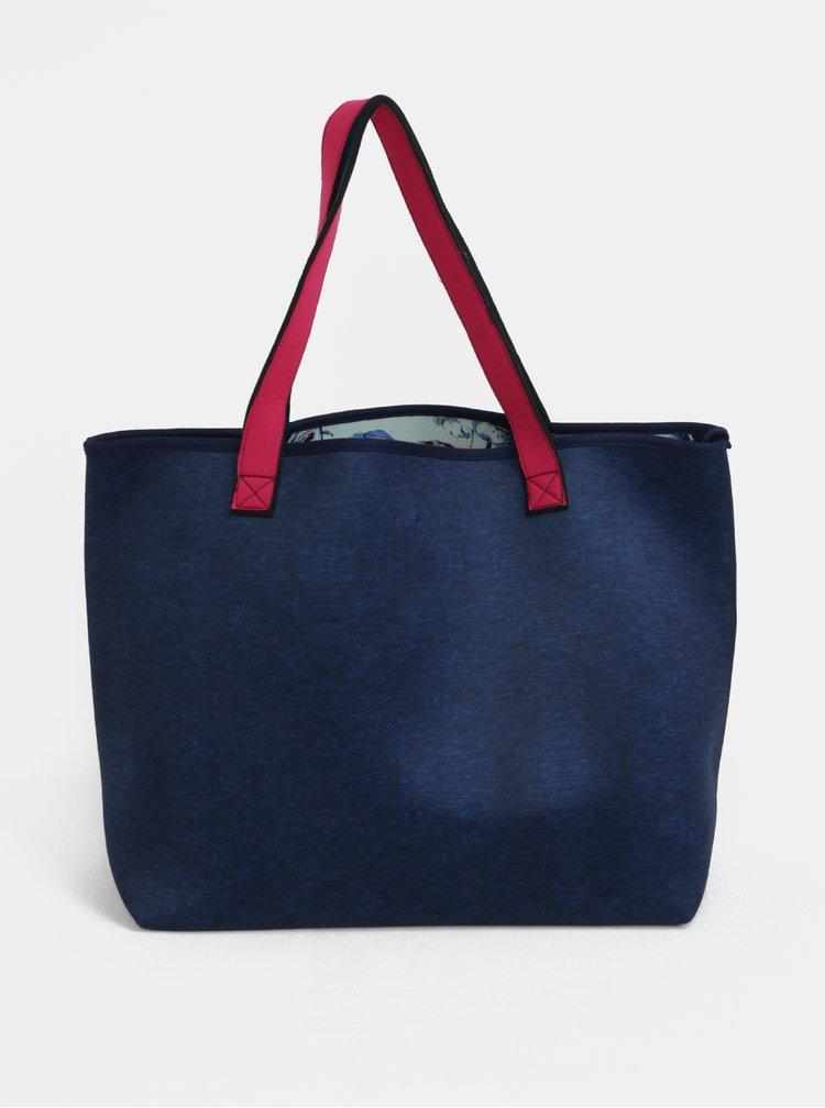Tmavě modrý shopper s pouzdrem 2v1 Roxy Inside the Rock