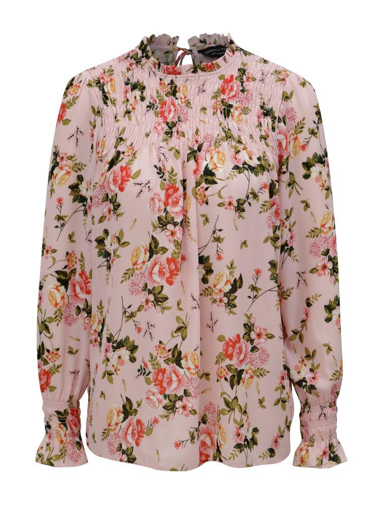 Růžová květovaná halenka Dorothy Perkins