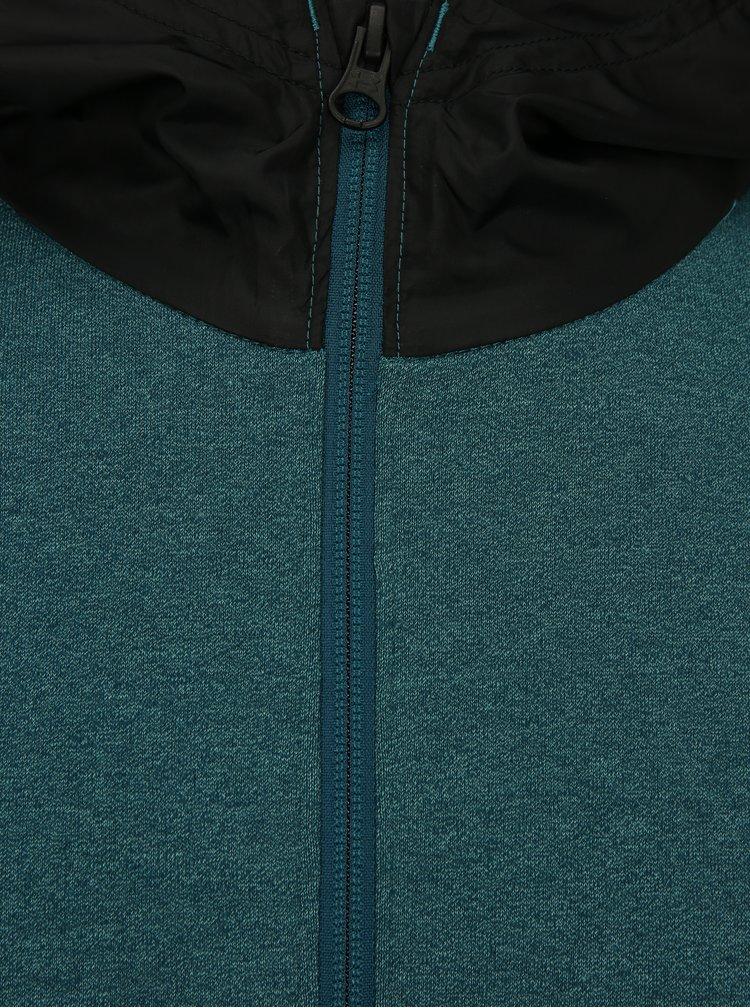 Černo-zelená pánská žíhaná funkční mikina Under Armour Threadborne