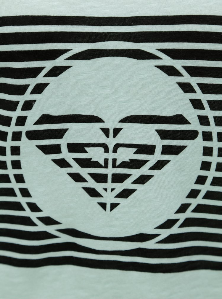 Mentolové dámské tričko s logem Roxy Bobby
