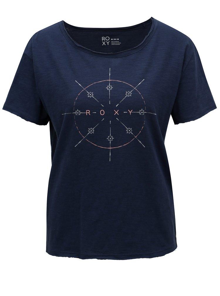 Tmavě modré dámské tričko s potiskem Roxy Mojito Party