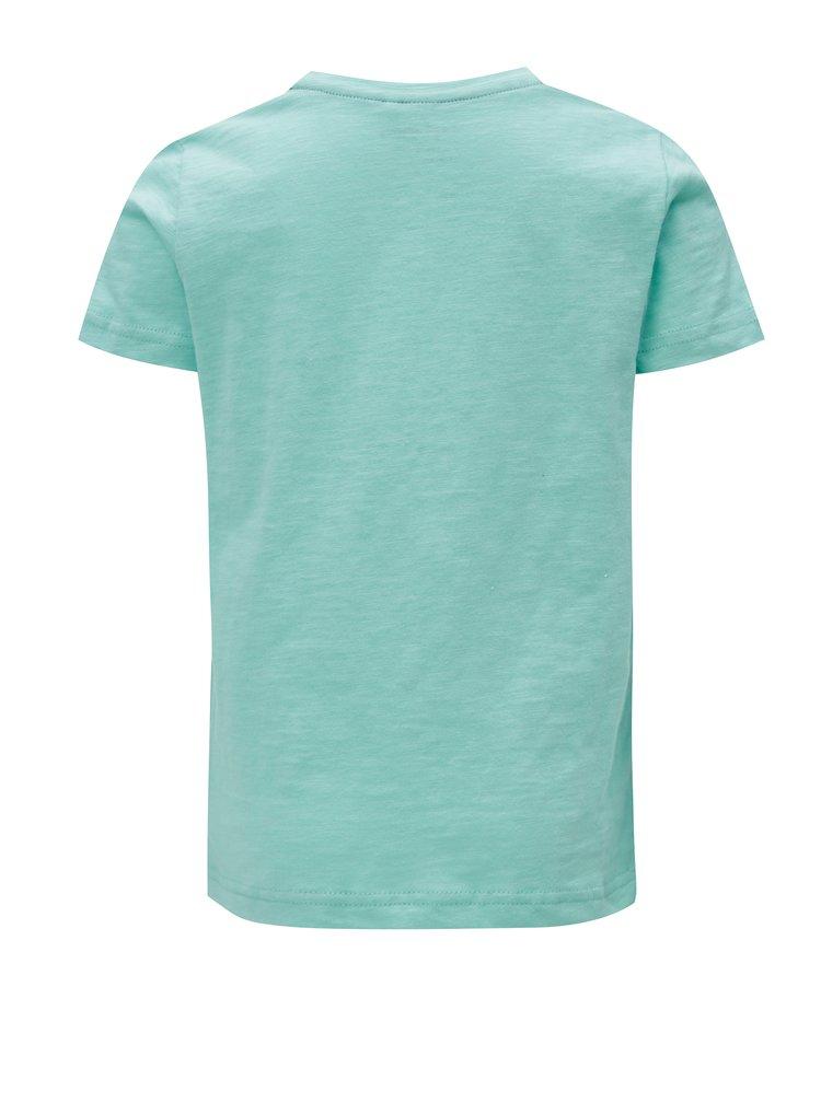 Černo-tyrkysové klučičí tričko s potiskem name it Johan