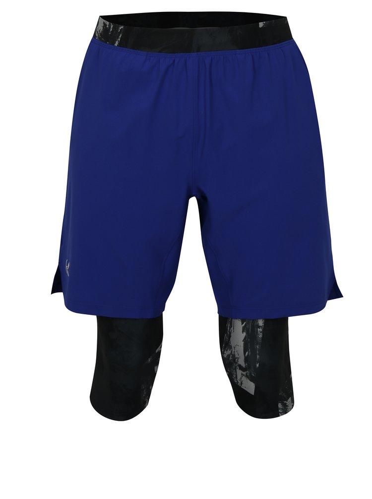 Pantaloni barbatesti scurti functionali negru-albastru Under Armour Launch