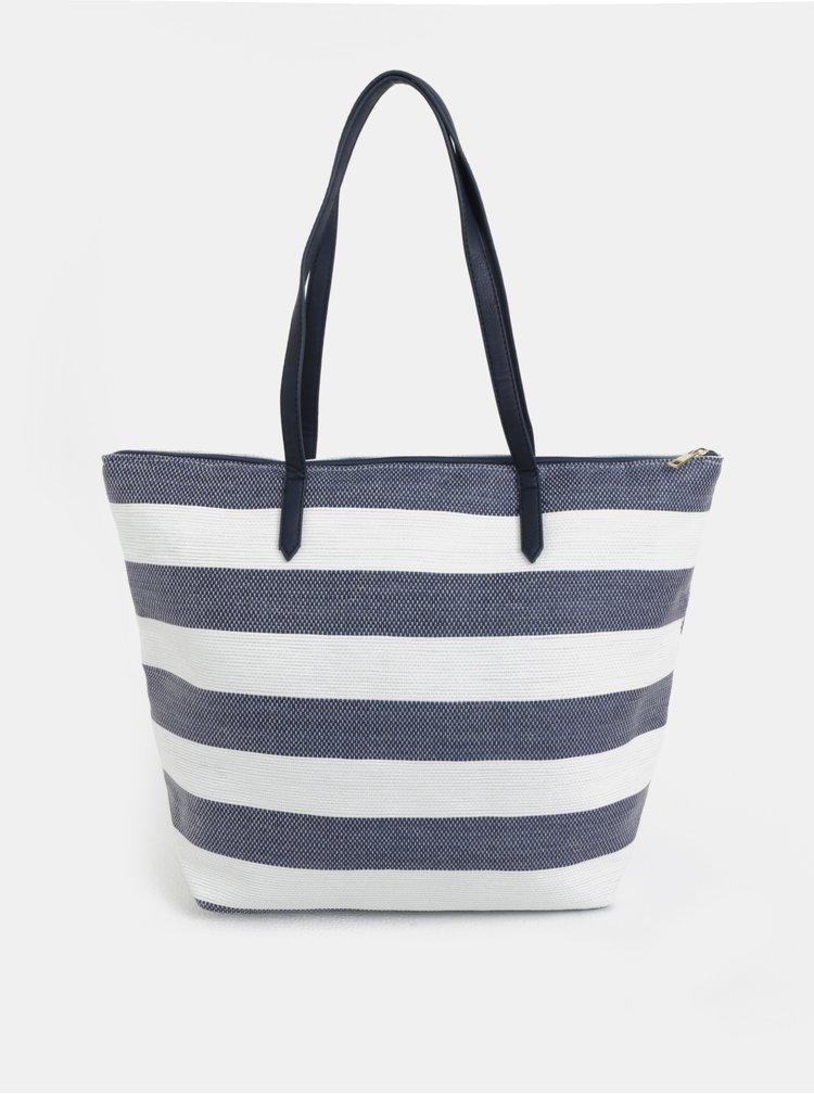 Bílo-modrý pruhovaný shopper Dorothy Perkins