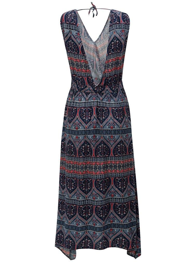Tmavě modré vzorované šaty Roxy Evolution Dreame